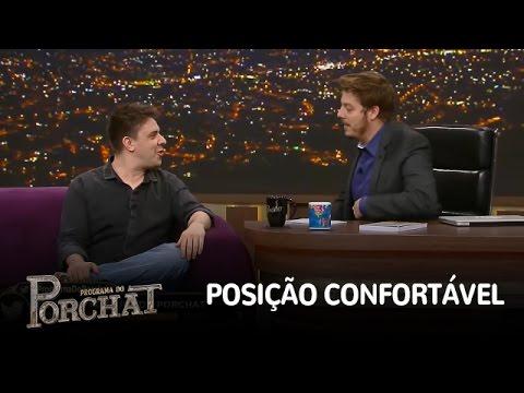 Fábio Porchat e Oscar Filho mostram melhor posição para fazer xixi. Veja!