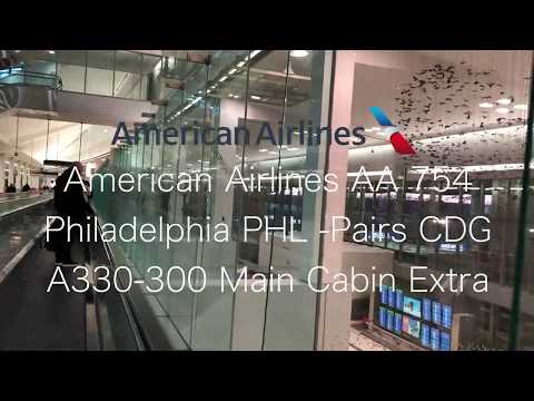 American Airlines AA754 Philadelphia-Paris