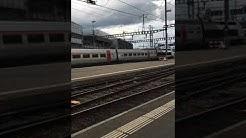 Arrivée du TGV Lyria à Cornavin (Genève)   Transports Suisse 05