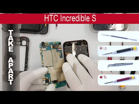 How to disassemble 📱 HTC Incredible S s710e, Take Apart, Tutorial
