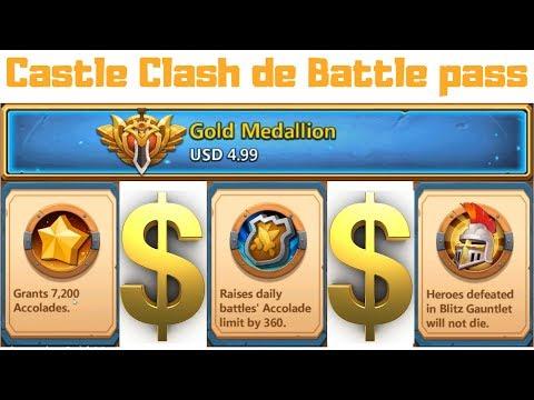 Buying A Castle Clash Battle Pass | Blitz Gauntlet
