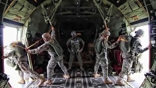 173rd Airborne Paratroopers Jump Over Latvia