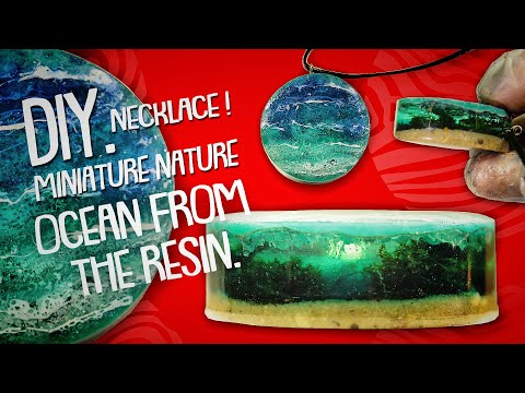 DIY. Secret Pendant. Miniature Ocean from the Resin-Necklace Underwater / Water waves from Resin