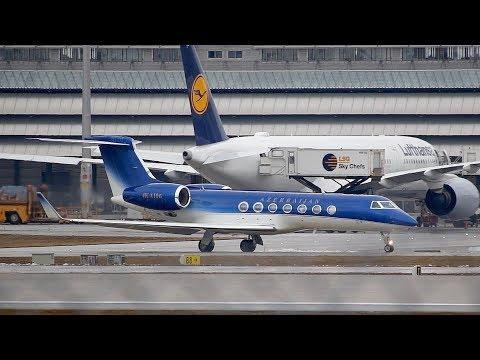 Gulfstream Aerospace G550 Azerbaijan Government 4K-A106 departure at Munich Airport