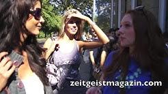 GNTM 2012: Micaela Schäfer, Georgina Fleur Bülowis, Franziska Czurratis CASTING BERLIN