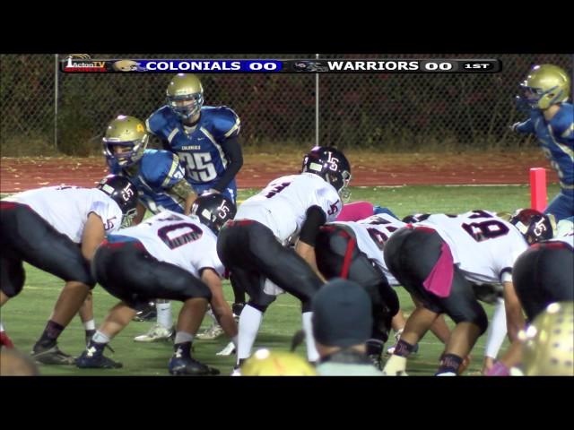 Colonials Football week 7 vs LS 10/23/15