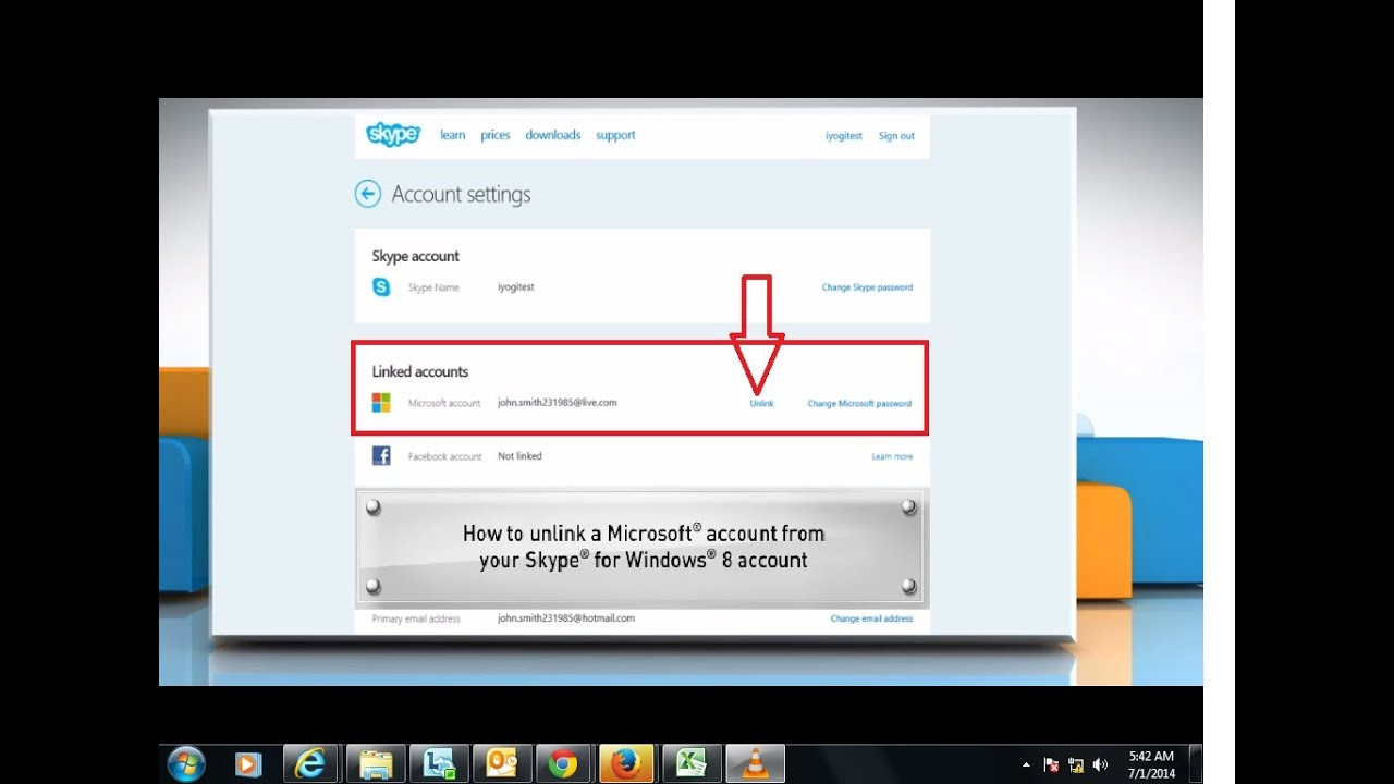 unlinking microsoft account from skype account - Account Technology