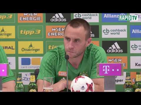 Pressekonferenz nach Rapid vs Altach