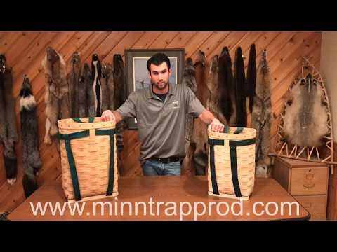 Woven Pack Baskets With Minnesota Trapline