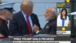 US President Donald Trump calls Indian PM Narendra Modi