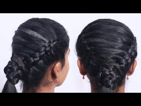 casual-hairstyles-for-long-hair-with-braids-easy-and-fast-headbands-|-ponytail-hair-styles-girls
