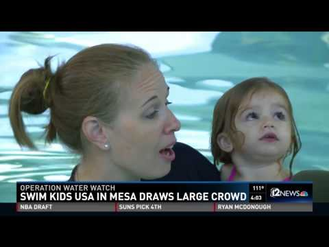 World's Largest Swim Lesson!   NBC 12 News Evening News