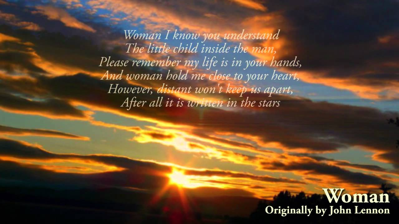 John Lennon Women With Lyrics 1980 High Quality