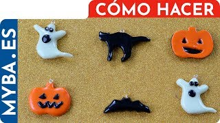Haz Adornos de Halloween muy fáciles. Manualidades para niños. DIY. Calabaza, fantasma y más.