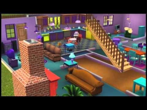 Casa dos Simpsons criada no The Sims 3