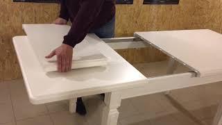 Немножко не стандартный раздвижной стол.