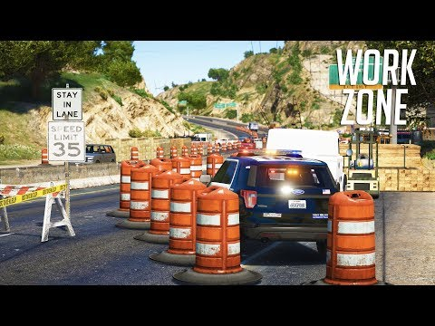 LSPDFR - Day 793 - Work zone speed enforcement