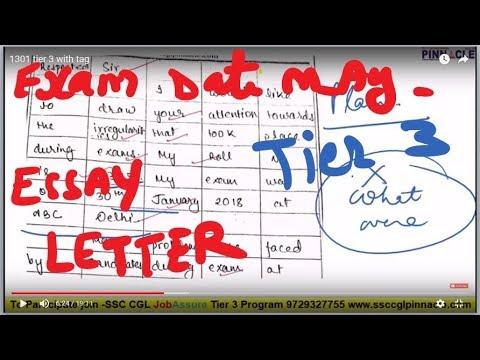 ssc cgl tier 3 descriptive writing Paper code 1301 I JobAssure Tier 3