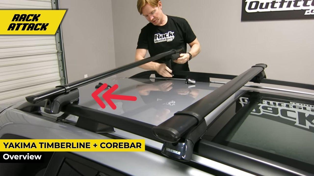 Yakima TimberLine Core Bar Base Roof Rack Install and ...