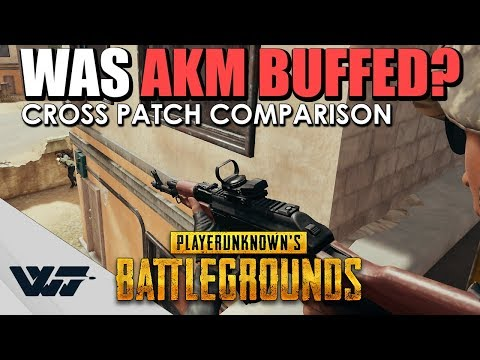 TEST: Was the AKM BUFFED in last patch? Let's find out. - PUBG
