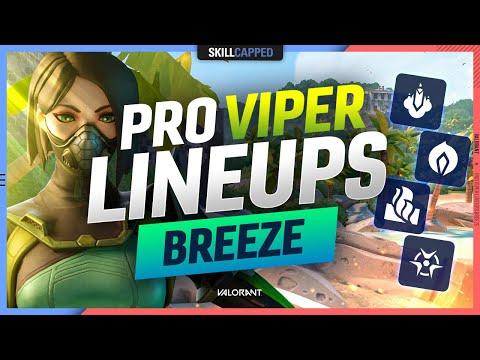 The BEST PRO VIPER LINEUPS, SPOTS, & SETUPS for BREEZE - Valorant Agent Guide