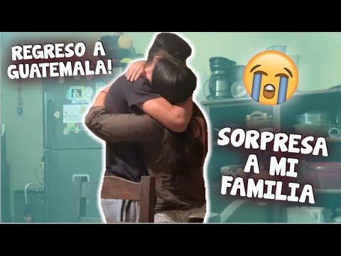 SORPRENDO A MI FAMILIA DESPUES DE AÑOS SIN VERLOS! (LLEGAMOS A GUATEMALA!)