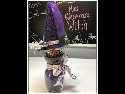 Tricia's Creations: Mini Glassware Witch / Dollar Tree Challenge
