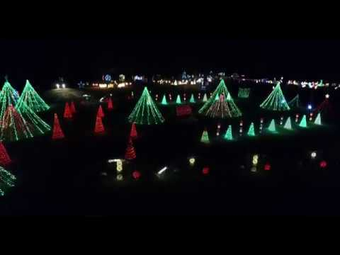 Sumner Iowa Christmas Lights - Drone!