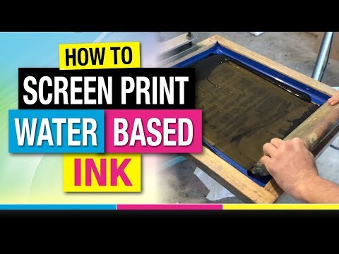 How to Screen Print Water Based Ink on T-Shirts