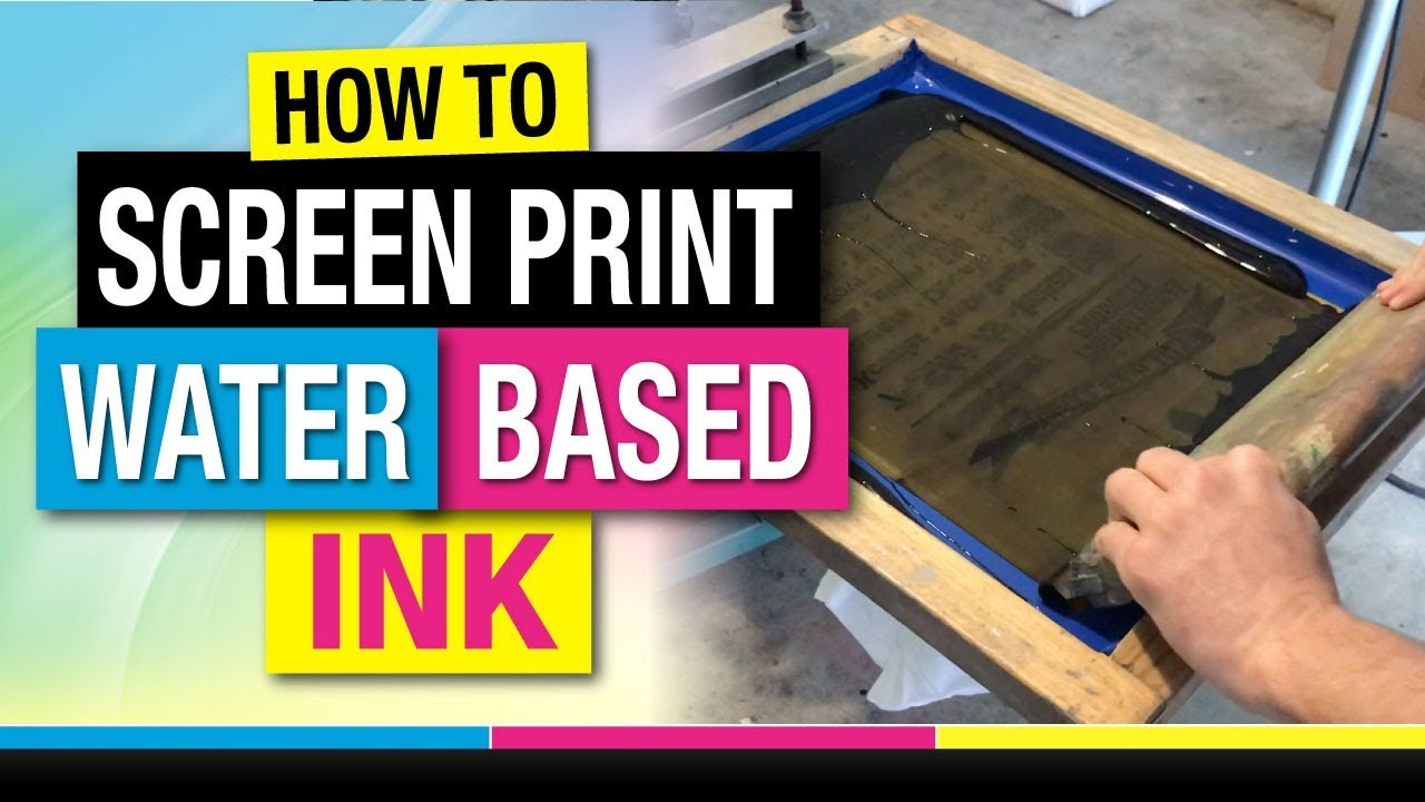 72cde014 How to Screen Print Water Based Ink on T-Shirts. Mikey Designs & Silk Screen