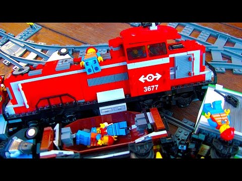 Lego City Trains Building A Big L Gauge Railway Layout & Train Crashes