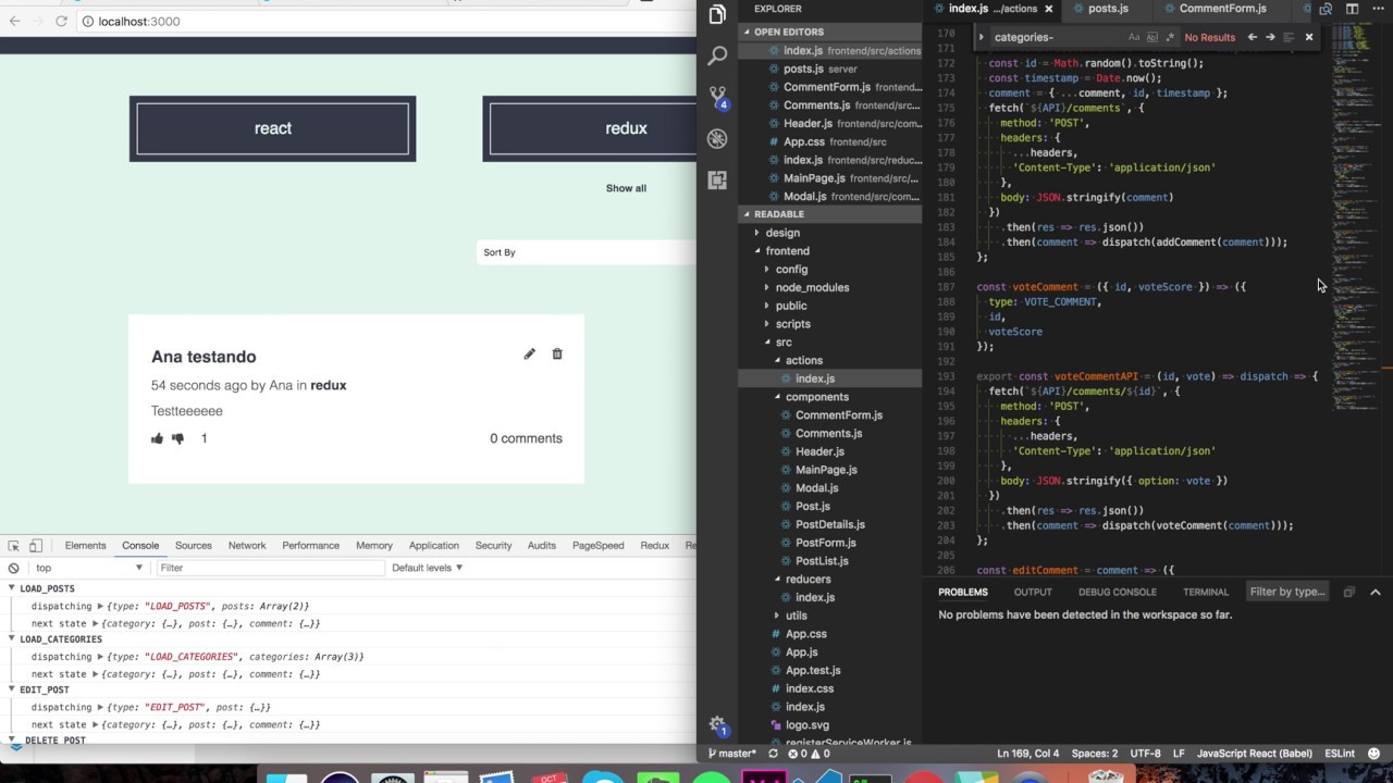 Projeto Udacity - React e Redux