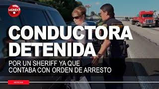 conductora-con-orden-de-arresto-es-detenida-por-un-sheriff