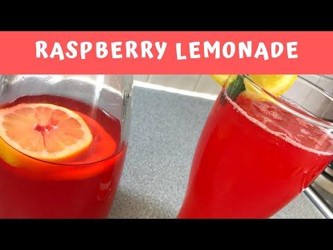 How to Make Homemade Raspberry Lemonade | Summer Drink