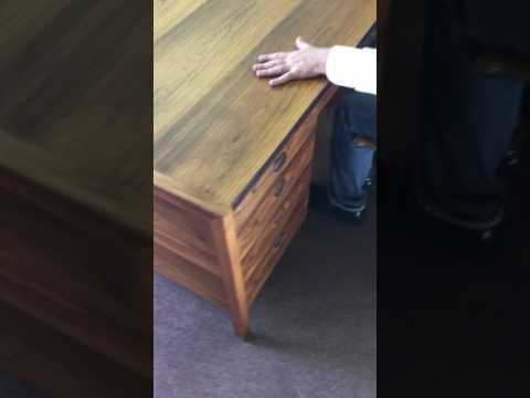 dunbar desk in rosewood