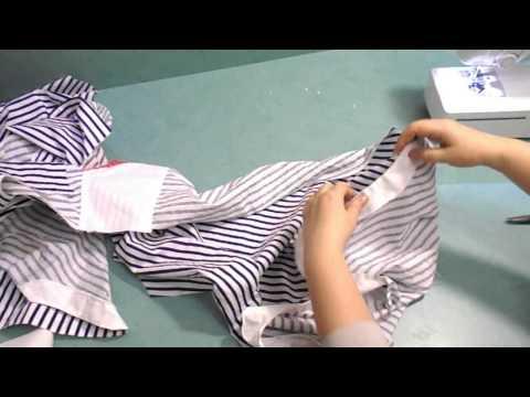 ШЬЁМ ПЛАТЬЕ- РУБАШКУ. 3 часть. обработка низа ,планки и бокового шва.