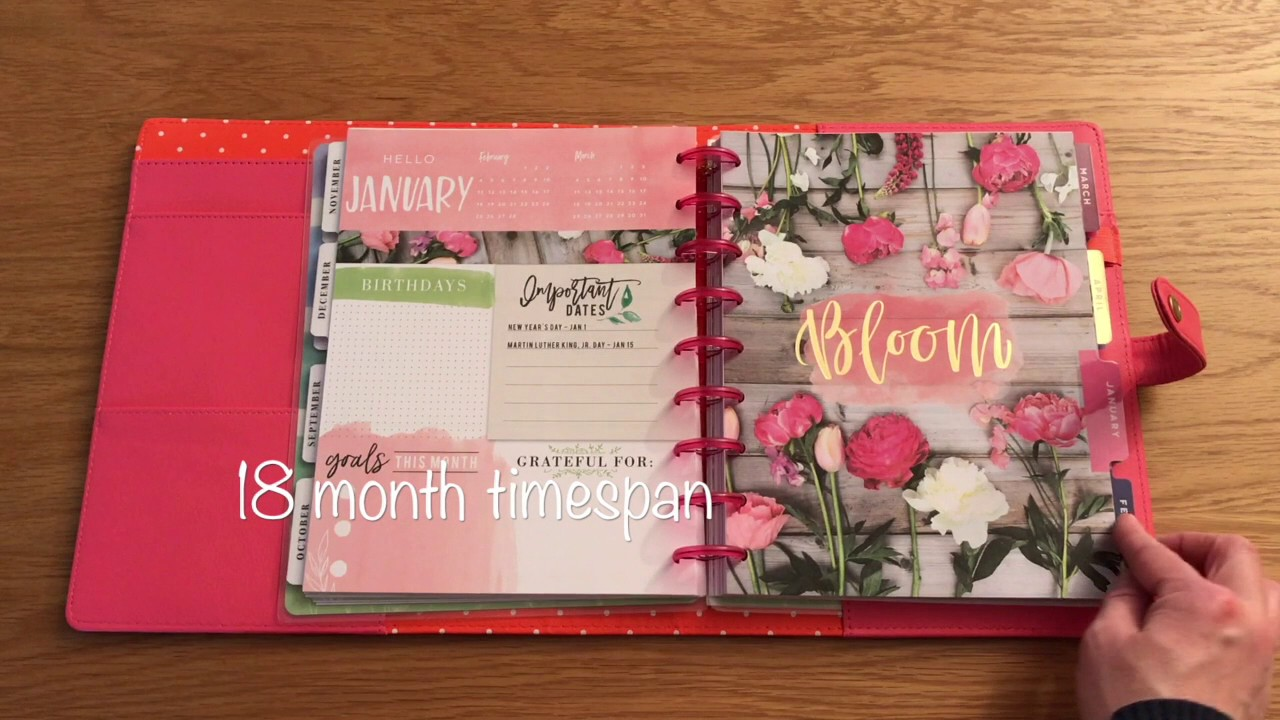 Classic Happy Planner Wildflower and Deluxe Cover in Salmon Walkthrough