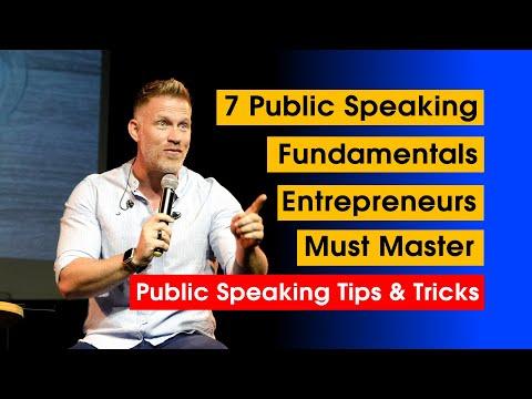 7 Public Speaking Fundamentals Entrepreneurs Must Master | Speak like a leader