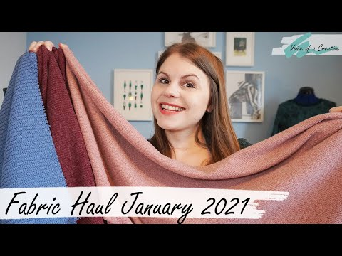 Fabric Haul January 2021 and Sewing Plans