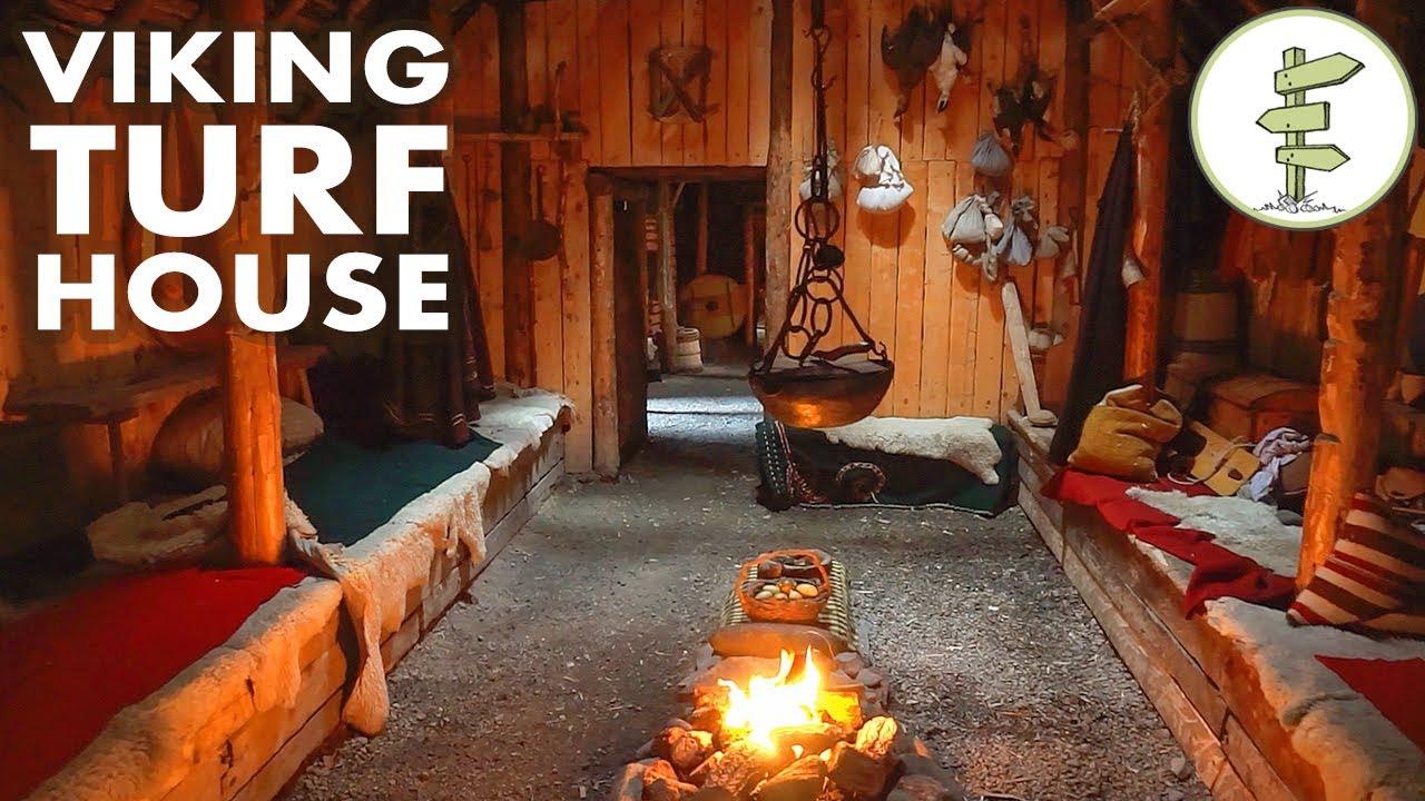 Amazing Viking Turf House Tour - Stunning Green Building!