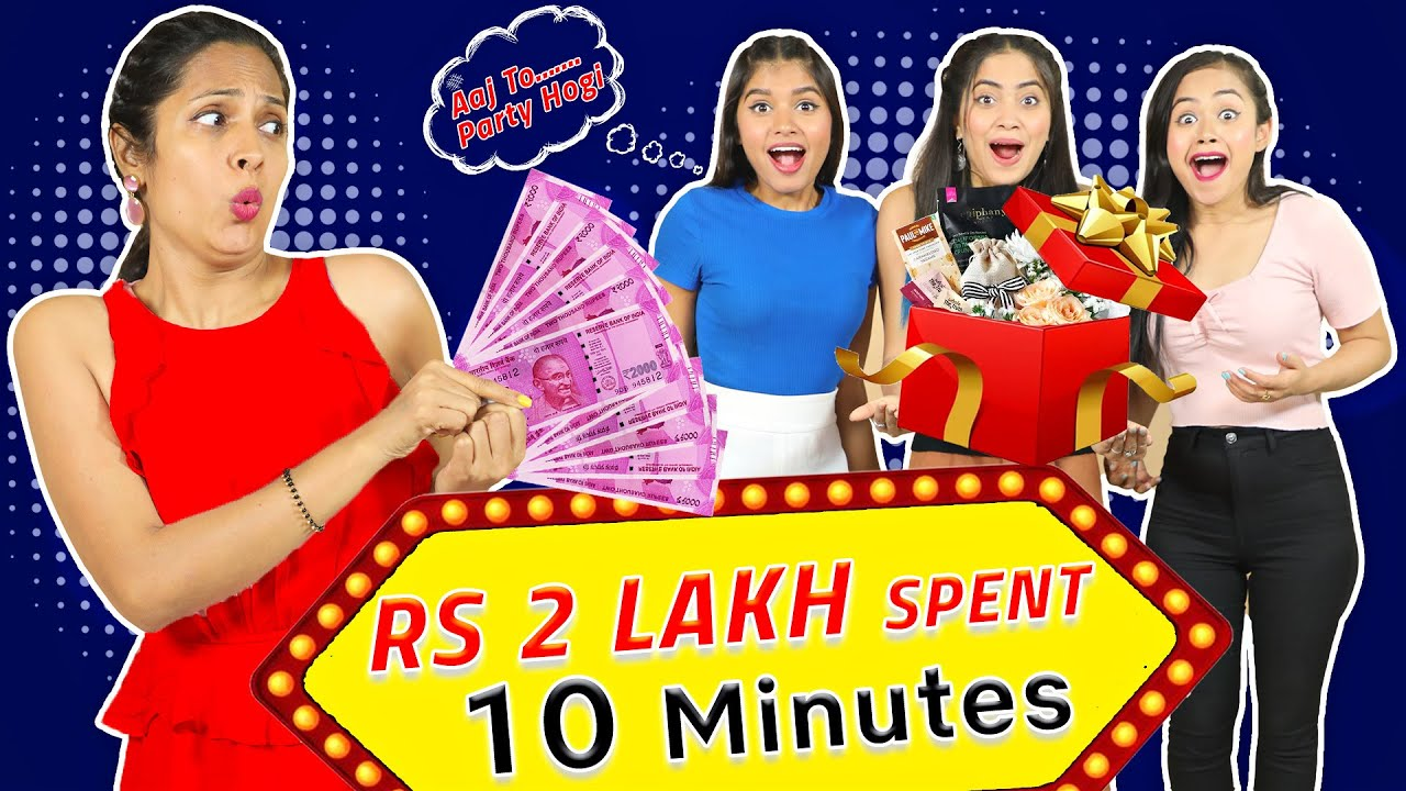 Spending ₹2,00,000 in 10 Mins Challenge | Anaysa