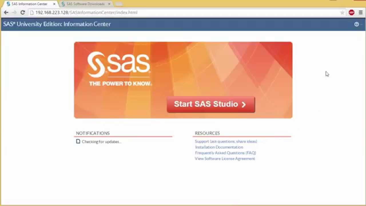 How to Install and Set Up SAS University Edition