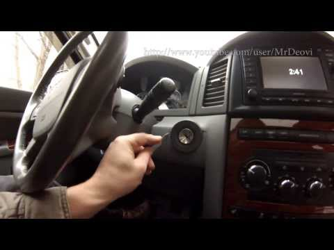 Ignition switch replacement Jeep Grand Cherokee WK / замена контактной группы замка зажигания