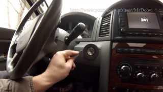 Ignition switch replacement Jeep Grand Cherokee WK / замена контактной группы замка зажигания