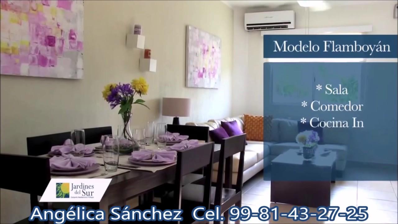 Modelo Flamboyan en Jardines del Sur 4ta Etapa en Cancun - YouTube