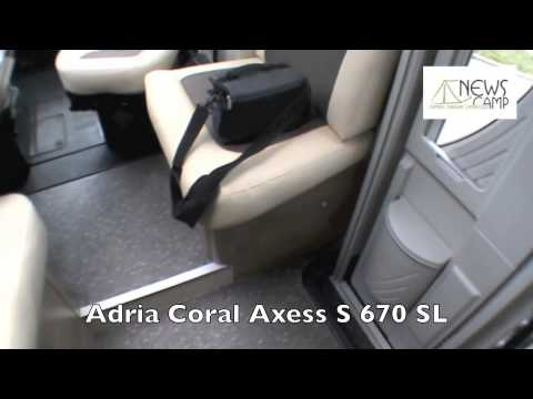 adria coral axess s 670 sl youtube. Black Bedroom Furniture Sets. Home Design Ideas