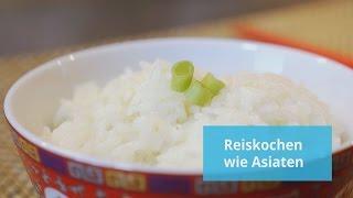 Reis kochen wie Asiaten (Fortsetzung Reis kochen mit Wissen Link in der Beschreibung)