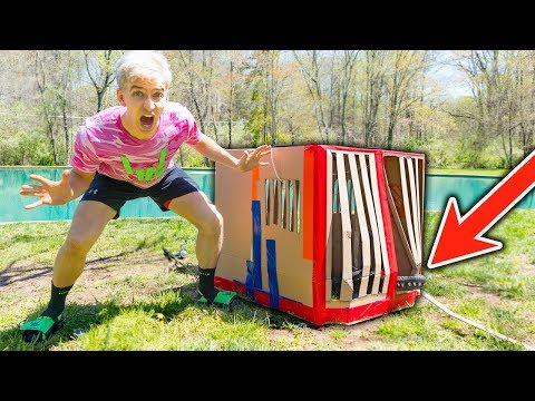 MONSTER IN POND!! (TRAPPED IN BOX FORT)