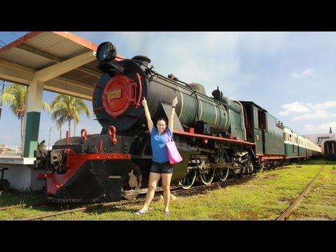 Fun ride on North Borneo steam train