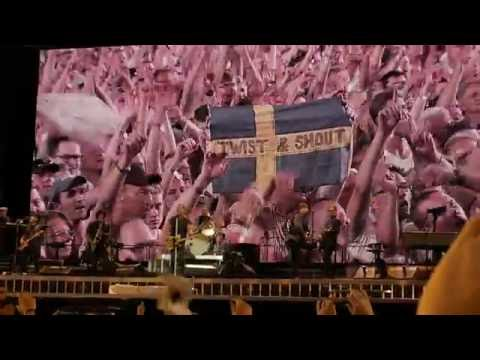Bruce Springsteen - Ullevi Gothenburg 23-07-16 - Twist And Shout (HD from 4K)